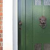 Esschert Design gietijzeren leeuwenkop deurklopper DB88 voordeur