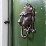 Esschert Design gietijzeren leeuwenkop deurklopper DB88