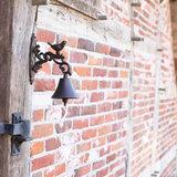 Esschert Design Gietijzeren Deurbel Vogel in Geschenkdoos BR22 aan muur