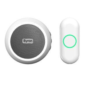 Byron DBY-23532 Draadloze Draagbare Deurbelset met eigen melodie beldrukker ontvanger stopcontact