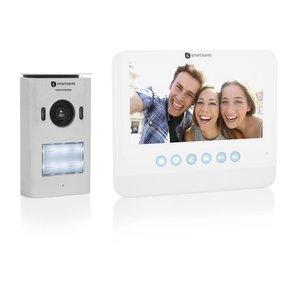 Smartwares DIC-22212 Video intercom systeem voor 1 appartement buitenunit binnenscherm voorkant schuin