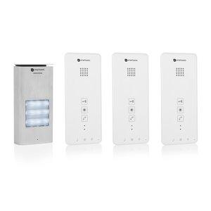 Smartwares DIC-21132 intercom voor 3 appartementen voorkant